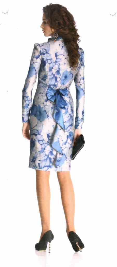 Очаровательное платье голубые