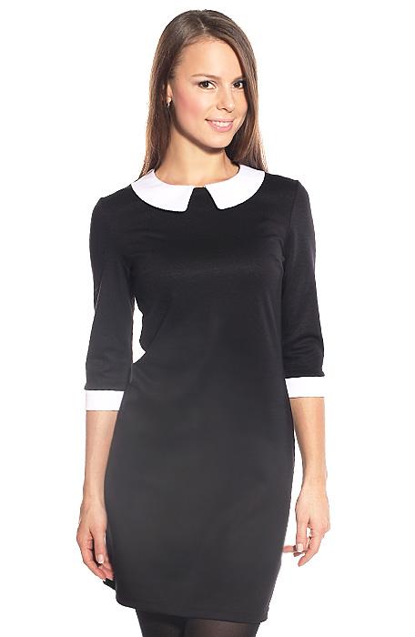 чёрно белое прямое платье платье в