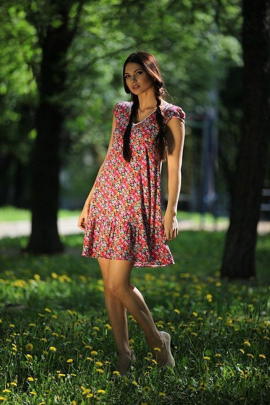 Летние платья в мелкий цветочек